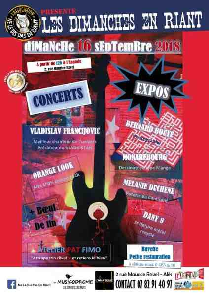concerts bons plans gratuit rock studio l'anatole alès