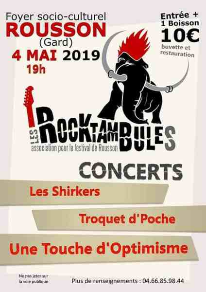 une touche d'optimisme concert rousson gard 2019