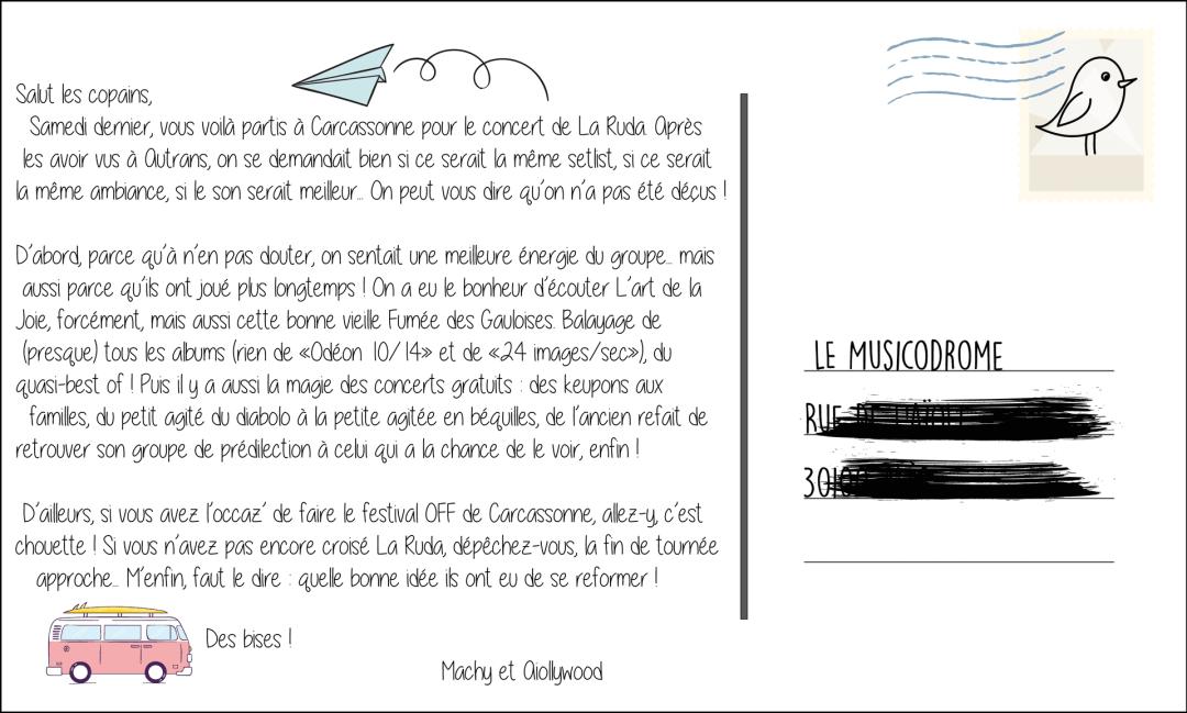 La ruda concert été 2019 carcassonne