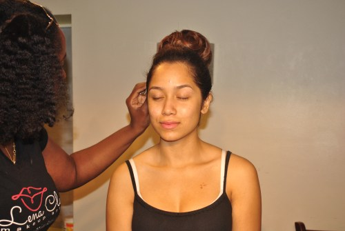 Behind the Brush w/ Chicago Makeup Artist Lena Clark in action.