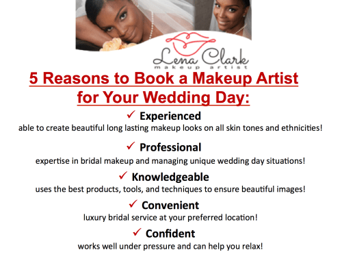 A makeup artist can make your life and wedding day easier...