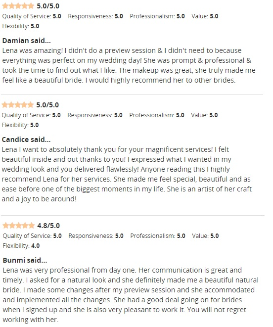 Bridal Reviews