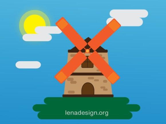 CSS Animation- Windmill
