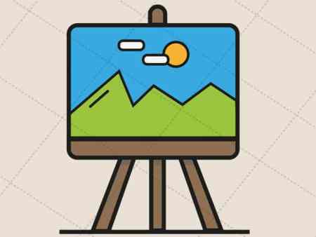 Canvas Painting- Vector Image