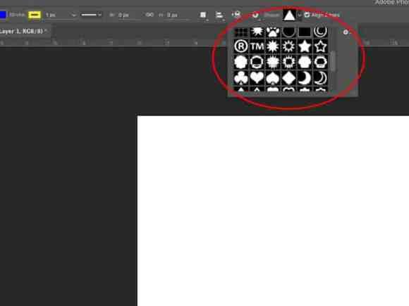 Custom shapes Photosop