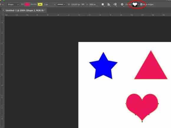 Heart Shape Photoshop