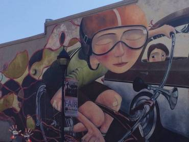 bicyclist mural