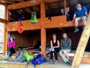 Appalachian Trail Hikers at the shelter