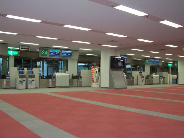 Japanese domestic airline gates