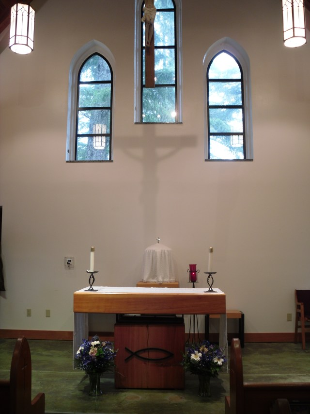 Church Interior -- Altar