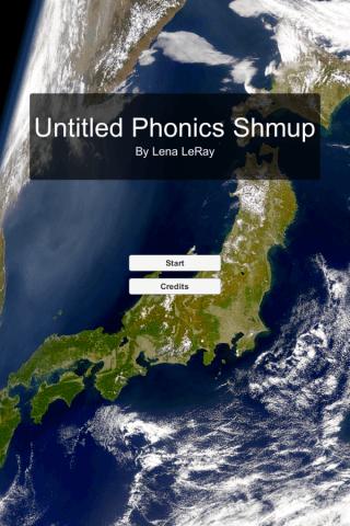 Phonics shmup start menu