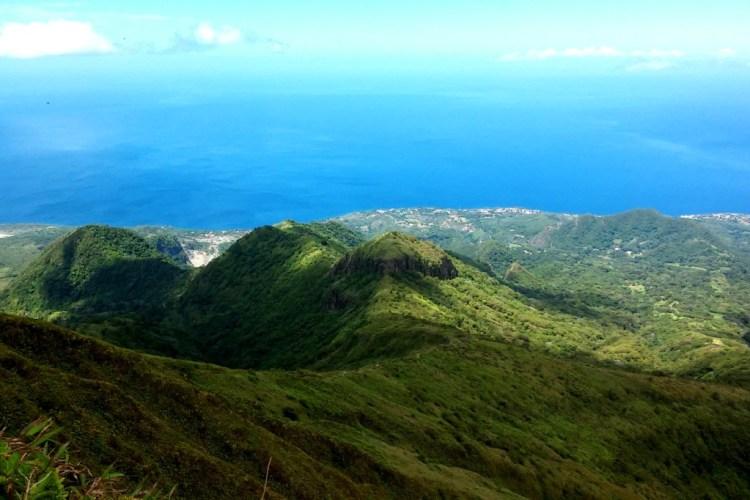 Mont Pelee Aussicht