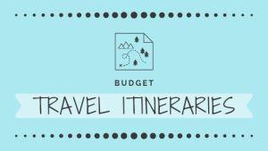 Budget Travel Itineraries