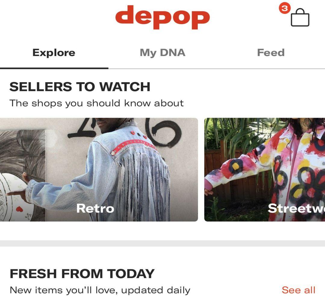 depop screen