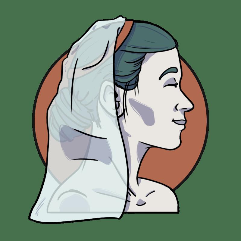 smiling bride illustration