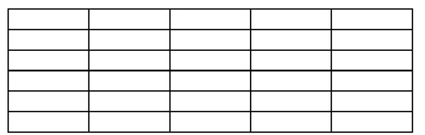 Tabellenausschnitt