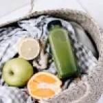 Ingwer Shot mit Orange und Apfel