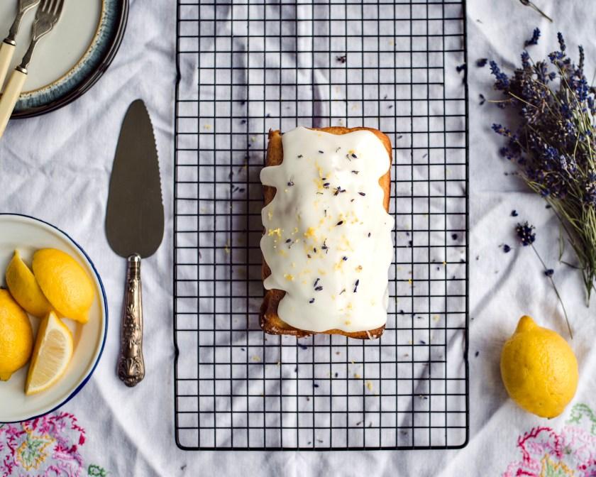 Zitronen Lavendel Kuchen