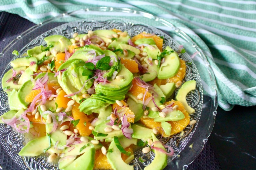 Avocado Salat mit Orangen
