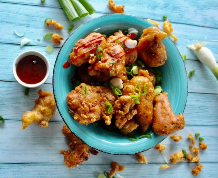 Hühnerfleisch gebacken