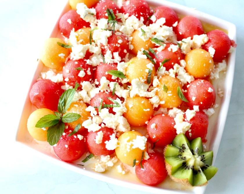 Melonen Salat mit Feta