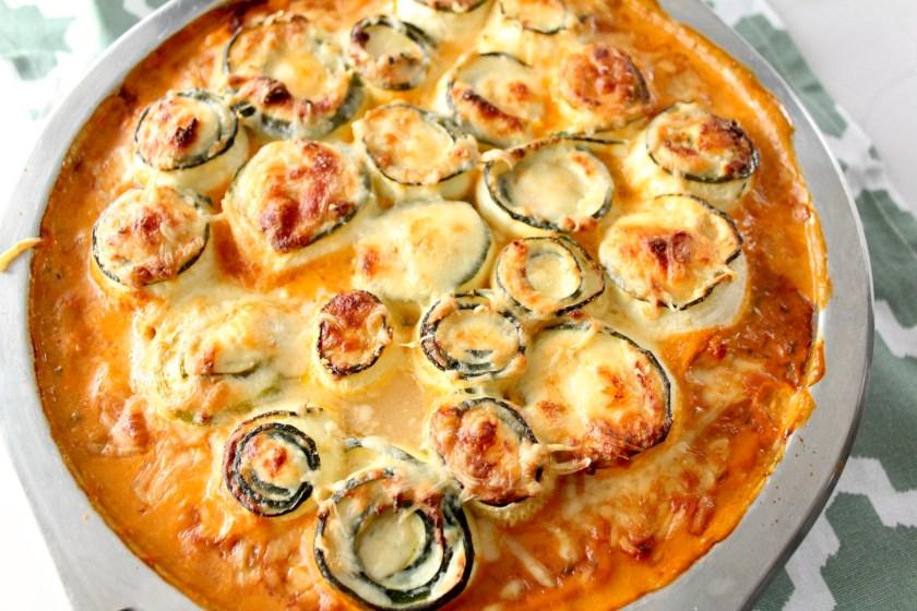 Zucchini-Ricotta-Röllchen geacken