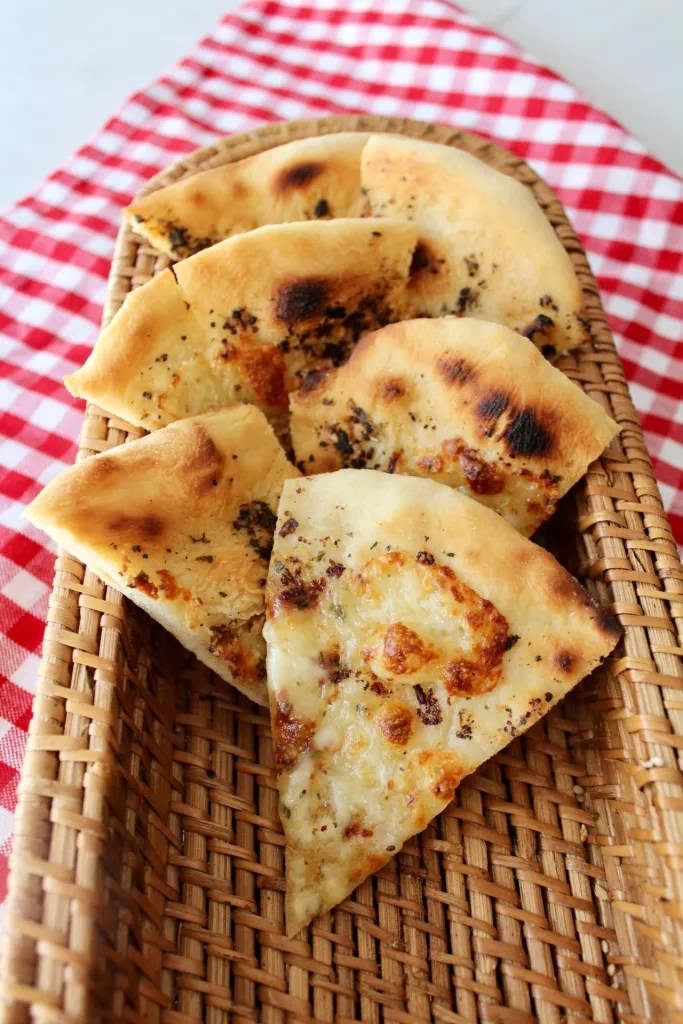 Pizzabrot geschnitten