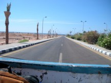 Just arriving in Dahab, Egypt