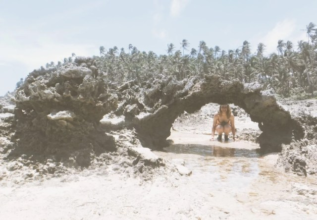 rock formation in the beach siargao