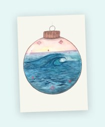 art card mini print watercolour wave