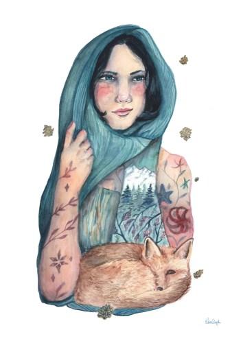 wild beginnings lena singla watercolor art