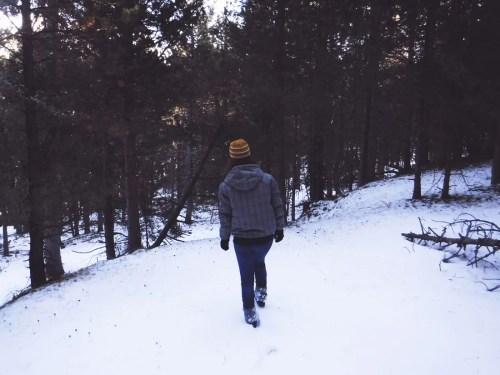 walking on fresh snow!