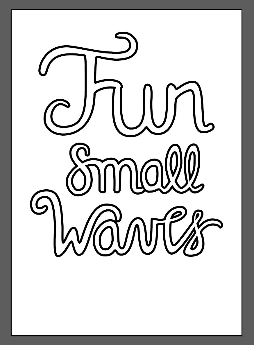 fun small waves lettering