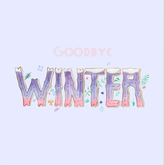 goodby winter lettering