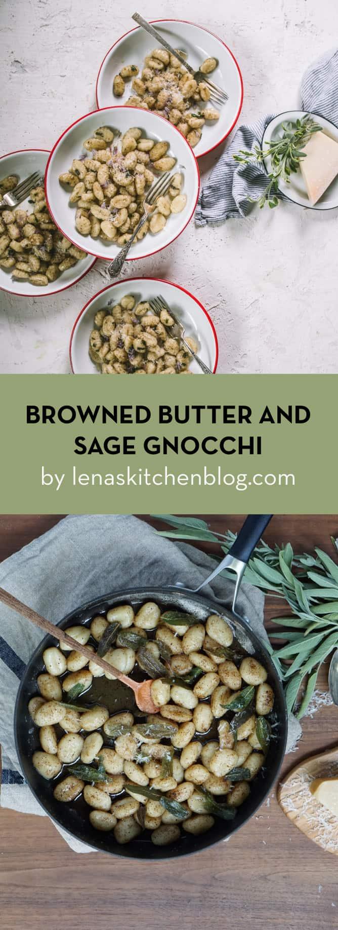 BROWNED BUTTER AND SAGE GNOCCHI by lenaskitchenblog.com