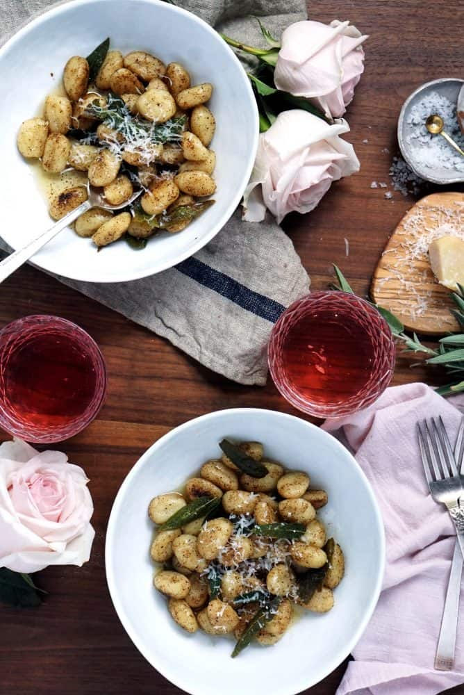 browned butter and sage gnocchi