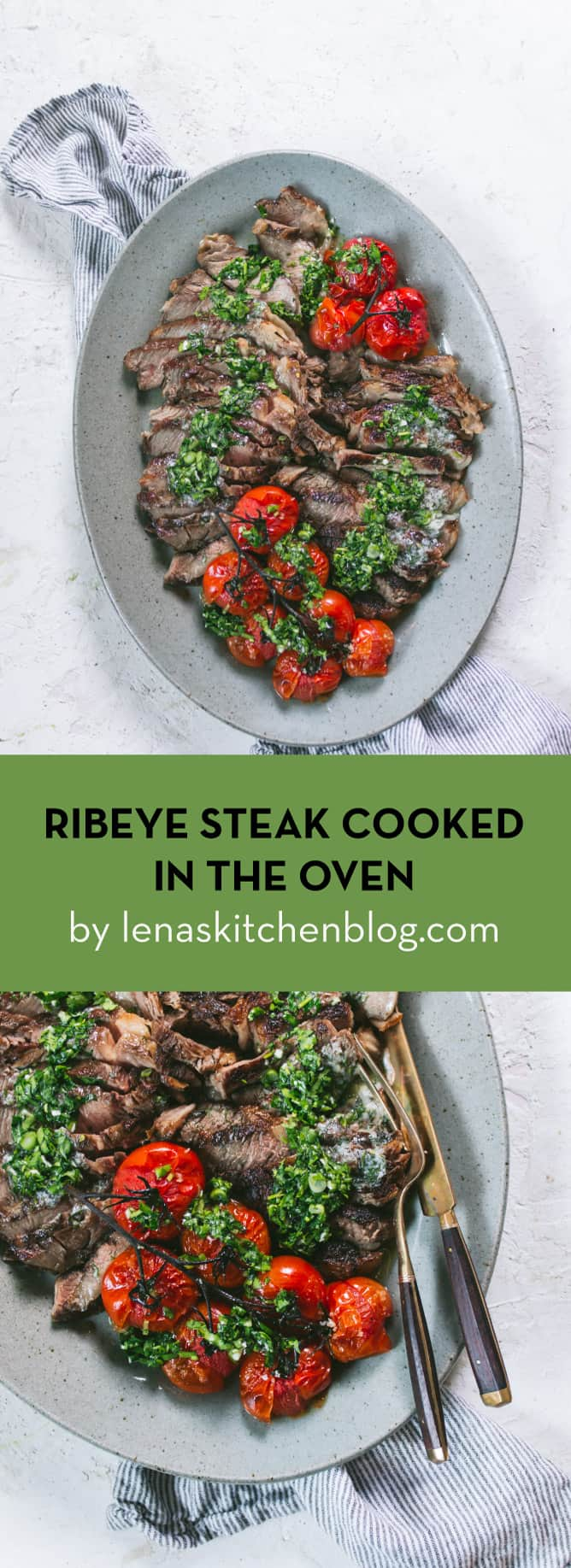 super tasty RIBEYE STEAK COOKED IN THE OVEN