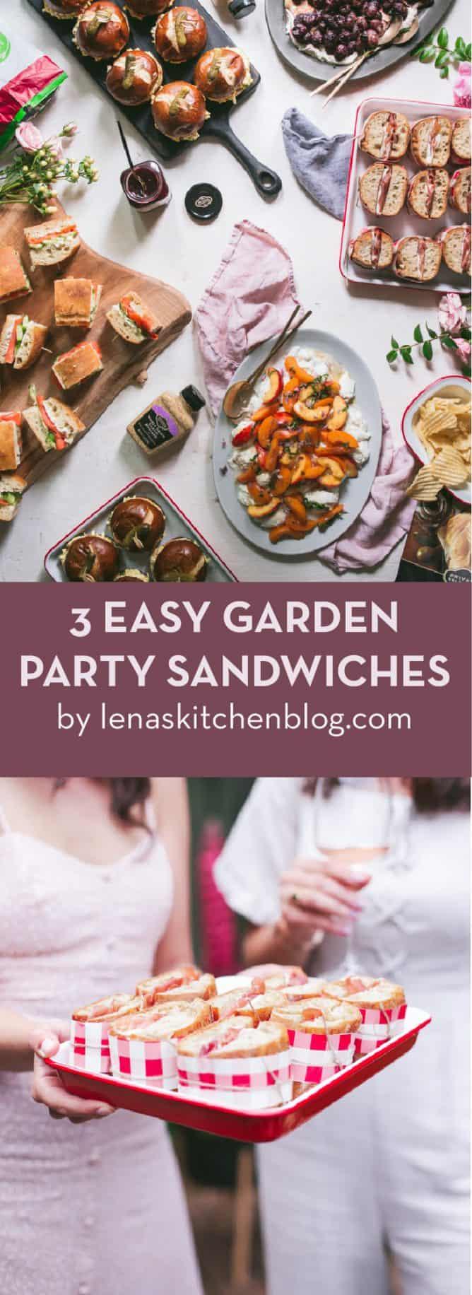 3 EASYGARDEN PARTY SANDWICHES
