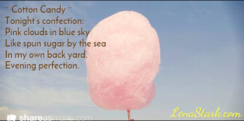 Cotton Candy | Poem by Lena Stark @ LenaStark.com