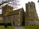Kirche und römischer Leuchtturm