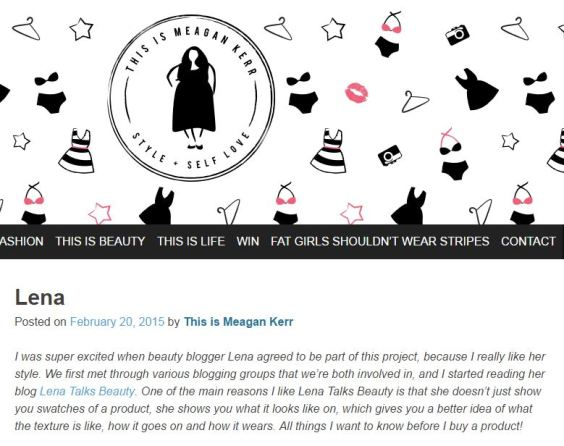 This is meagan kerr - Lena Talks Beauty