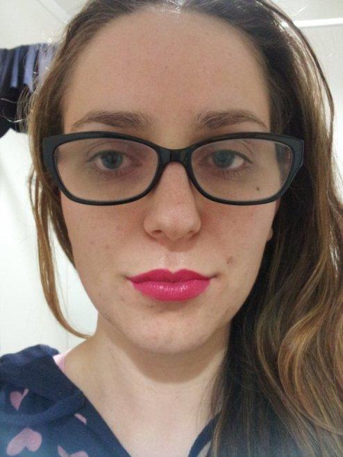 lip swatch outtake
