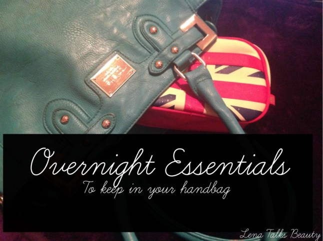 overnight handbag essentials