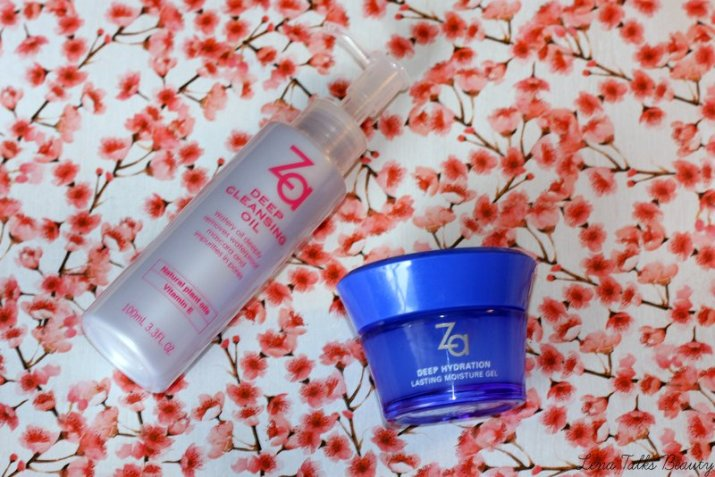 Za deep cleansing oil and za deep hydration moisture gel
