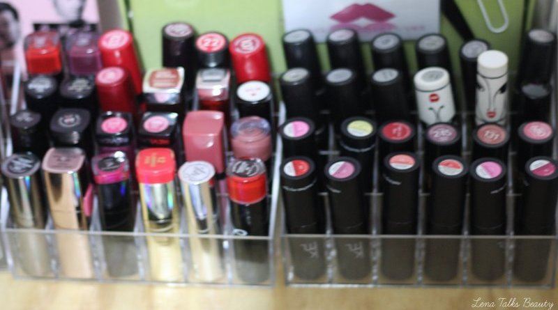 Acrylic Lipstick Storage - Lena Talks Beauty