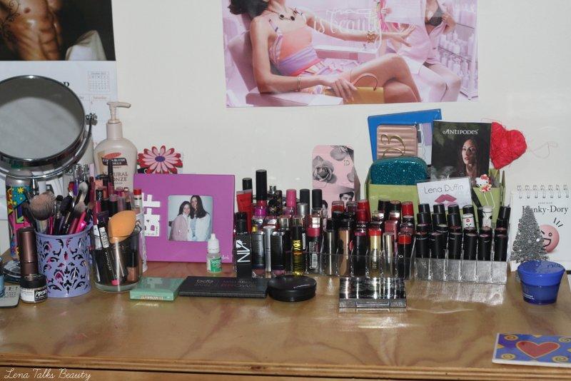 My makeup storage - Lena Talks Beauty