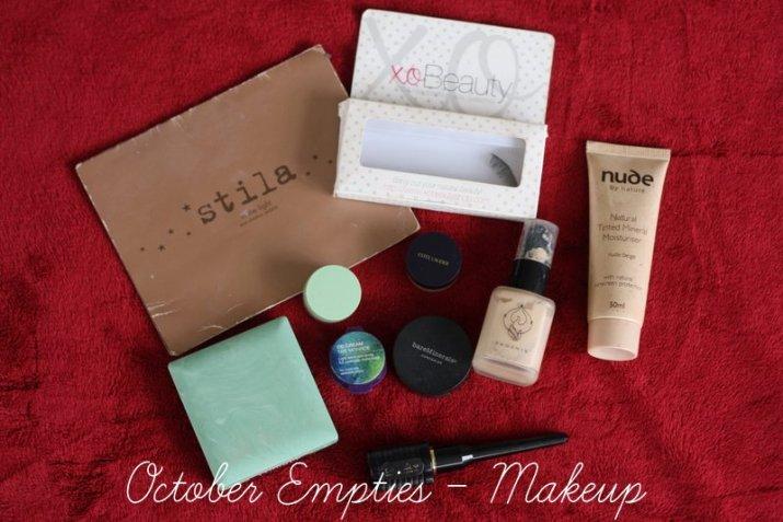 October Empties - Makeup. XObeauty, stila, clinique, phoenix, nude by nature, oasis, bare minerals, estee lauder - Lena Talks Beauty