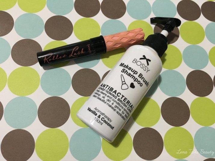 Bossy cosmetics brush shampoo, benefit roller lash mascara