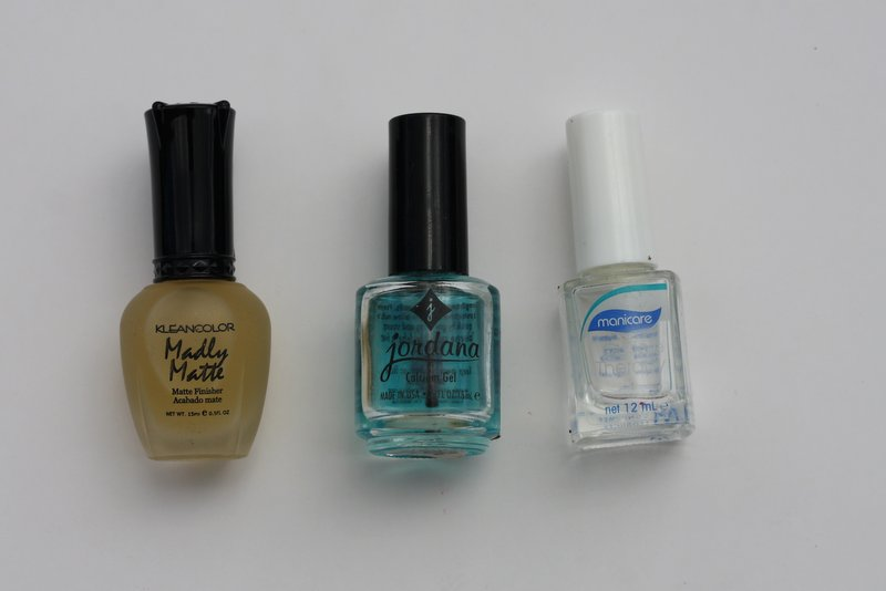 Kleancolour madly matte, jordana calcium basecoat, manicare cuticle therapy - lena talks beauty