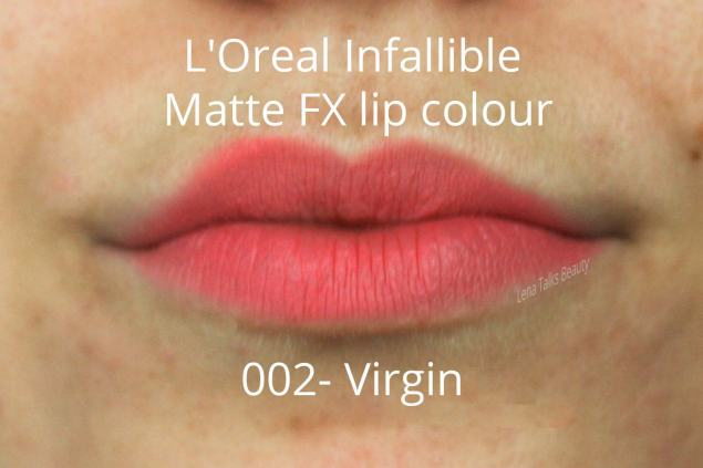L'Oreal-Infallible-Matte-FX-lip-colour-002-Virgin-lip-swatch